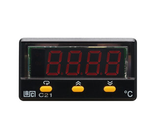 C21 50x26mm Panel Mount Electronic Temperature Controller