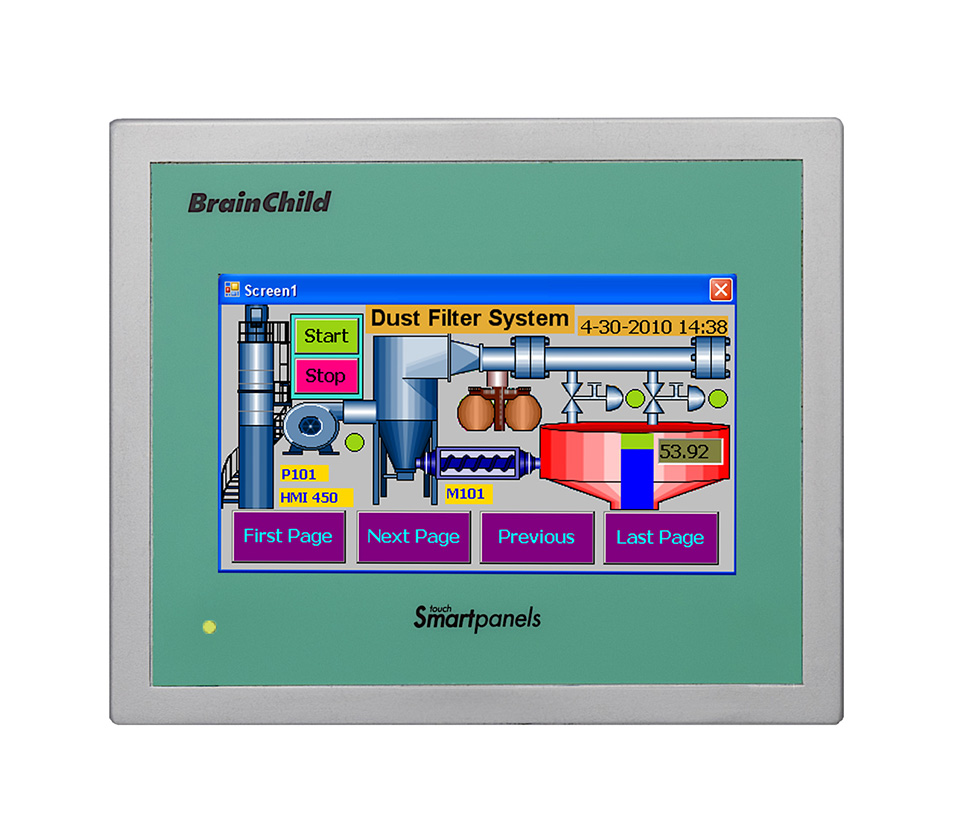 4.3-inch TFT Wide Touch Screen HMI